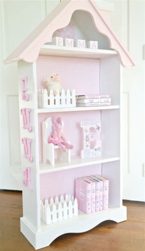 pink and white dollhouse bookcase items similar to charming cottage dollhouse bookcase