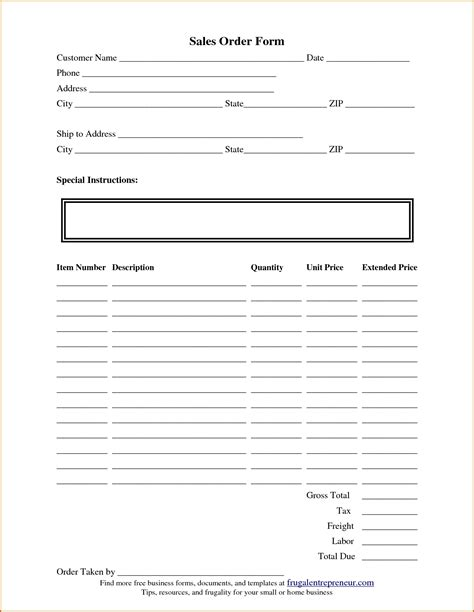 Order Form Template Tryprodermagenix Org Free Html Form Templates