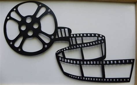 reel metal wall home theater decor by