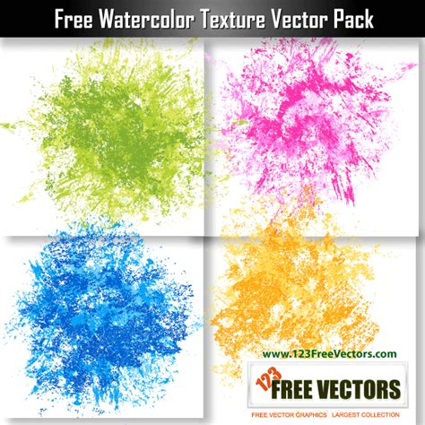 free watercolor texture vector pack 123freevectors