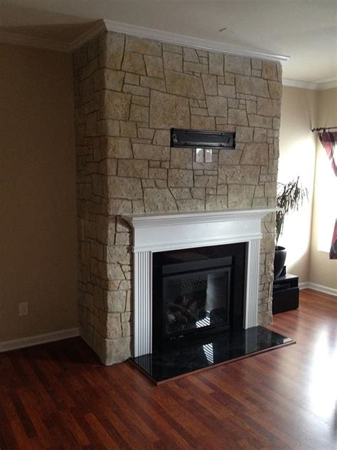 Fireplace Overlay by Simulated Concrete Fireplace Overlay