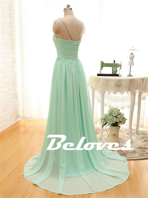 mint beaded dress mint green beaded illusion chiffon prom dress with ruched