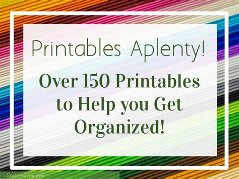 helping your kids get organized this new year over 150 printables to help you get organized