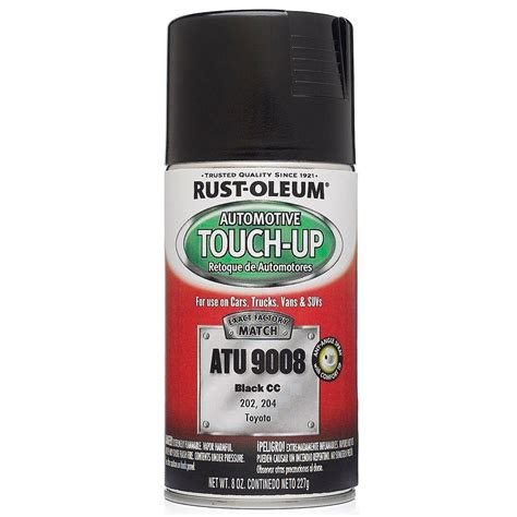 home depot car touch up paint rust oleum automotive 8 oz black auto touch up spray 6