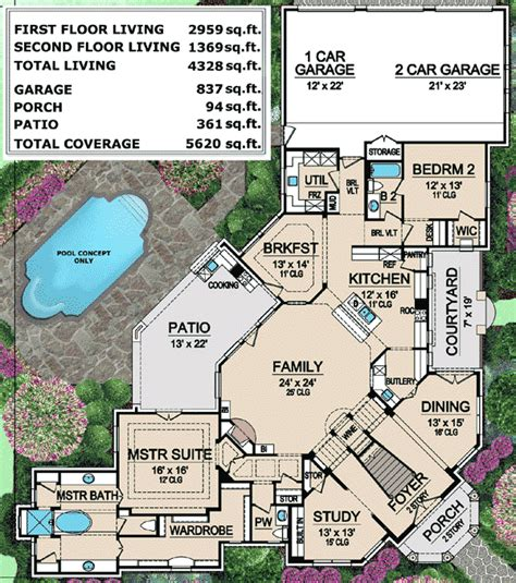 mediterranean mansion floor plans mediterranean mansion house plan 36427tx architectural