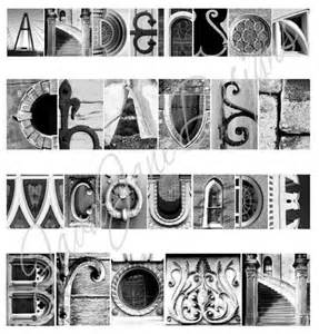 Architectural Letters Photography architectural letters framed