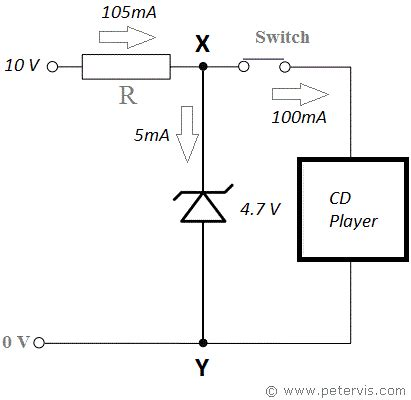 application of zener diode with circuit diagram 4 7v zener diode power supply circuit