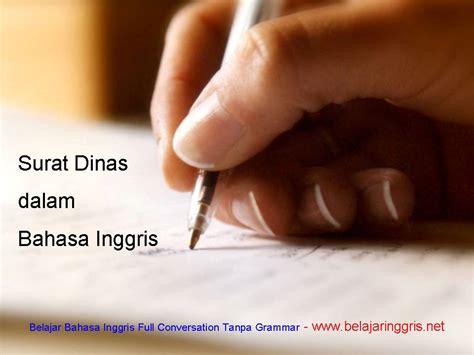 surat dinas dalam bahasa inggris belajaringgris net