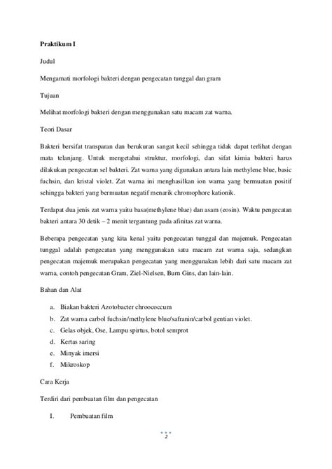 format makalah laporan praktikum makalah 65 laporan akhir praktikum mikrobiologi
