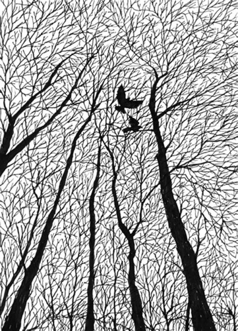 pattern ink drawing pen and ink trees on pinterest tree drawings line art