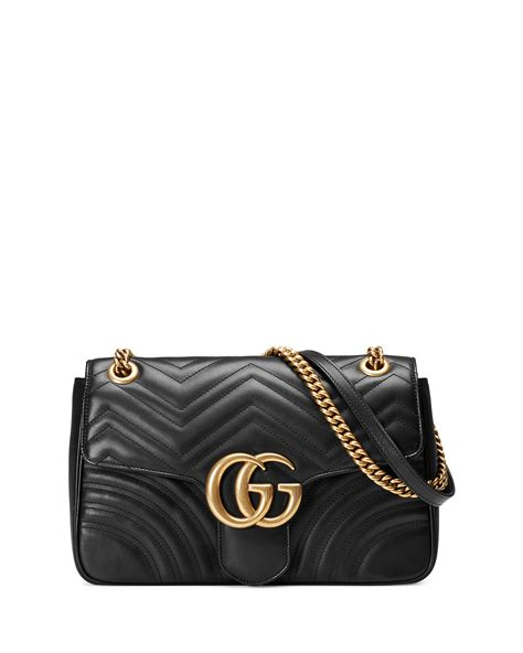 gucci gg marmont 2 0 medium quilted shoulder bag black neiman