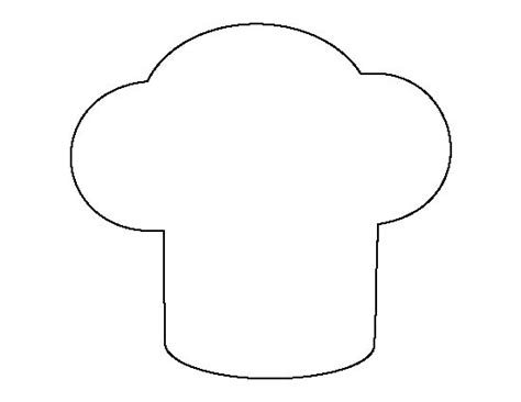 chef template chef hat pattern use the printable outline for crafts