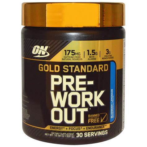 optimum nutrition gold standard pre workout bodybuilding
