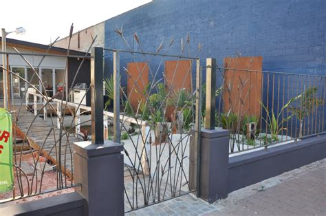 Modern Wrought Iron Gates And Fences Adelaide Wrought Iron Bullrush Fence And Gate Farmweld