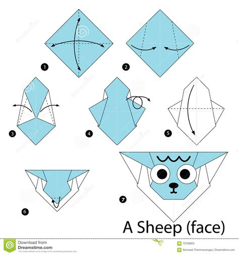 How To Make A Origami Sheep - step by step how to make origami a sheep