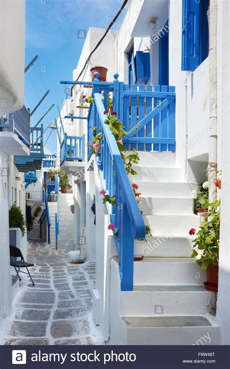 how to buy a house in greece white painted houses in mykonos town chora mykonos island greece stock photo