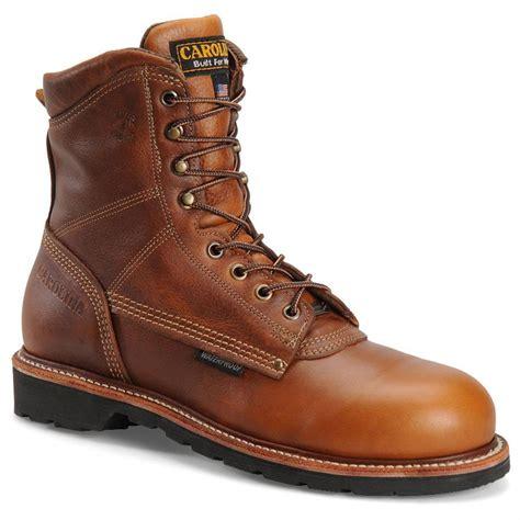carolina work boots review s carolina 174 8 quot domestic waterproof work boots tobacco