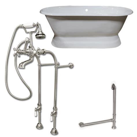 66 inch cast iron bathtub 66 inch cast iron double ended pedestal tub no holes