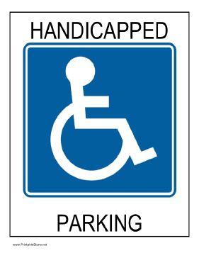 handicap parking sign template printable handicapped parking sign