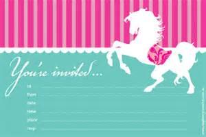 candy stripe pony invitations
