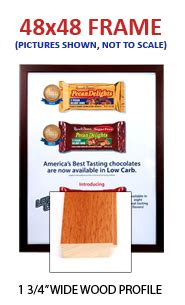 48 X 60 Poster Frame by 48 X 48 Frames For Posters With Fast Changing Swingframe