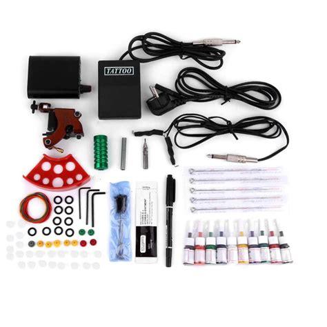 tattoo kit eu complete tattoo kits professional gun machine power pedal