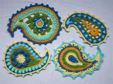 Paisley Pattern Crochet Motif | paisley floral crochet pattern