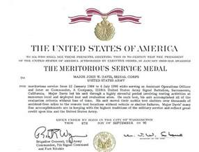 meritorious service medal citation template army award citation exles msm