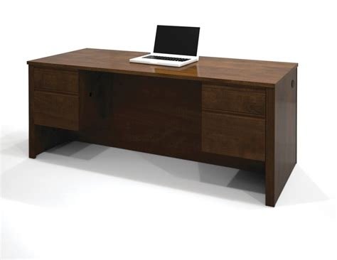 bestar prestige executive desk with dual half peds in
