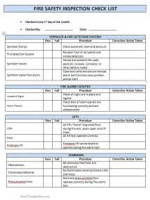 Safety Audit Template by Inspection Checklist Template Pictures To Pin On