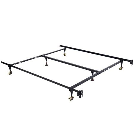 costway metal bed frame adjustable size w center support walmart