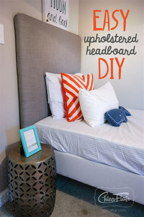 how to make a twin headboard upholstered easy upholstered headboard diy chicaflair