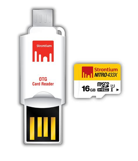 Strontium Microsd Card strontium 16gb nitro microsd card with otg adapter 65mb s memory cards at low prices
