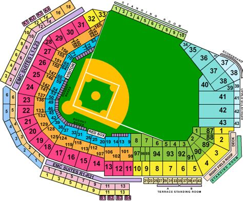 fenway seat chart pin fenway park seating chart boston sox on
