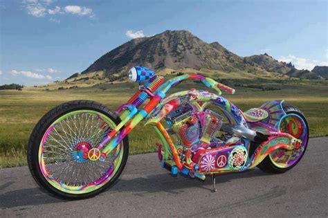 cool multicoloured chopper bike jokes memes pictures