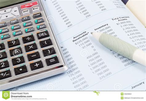 calculator open calculator book and pen stock photos image 33229953