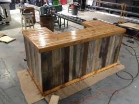 How To Build A Wood Bar Top by Great Bar From Furnishly Reclaimed Wood