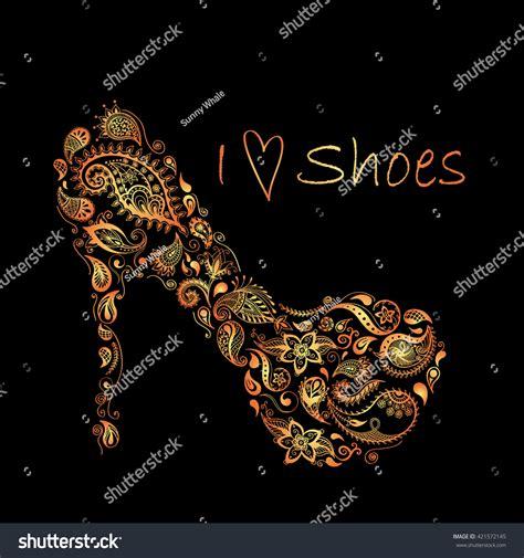 doodle batik patterned shoes batik doodle zentangle design stock vector