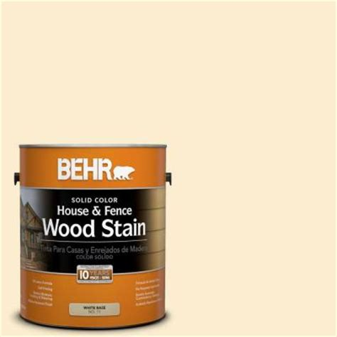 behr 1 gal sc 157 navajo white solid color house and fence wood stain 01101 the home depot