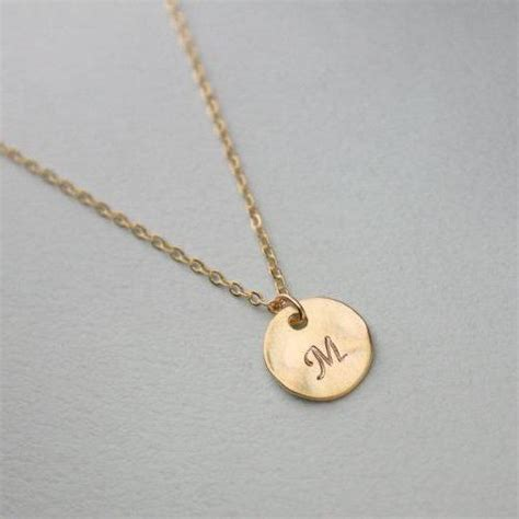 Gold Product Box Joyko Cb 27 personalized initial gold disc necklace personalized