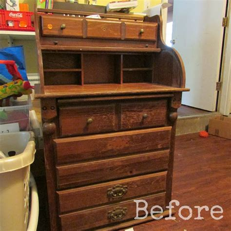 roll top desk makeover diy before and after furniture makeovers diy do it your