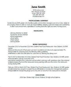 Sle Resume Restaurant Shift Manager 7 Best Restaurant Manager Resume Supervisor Resume