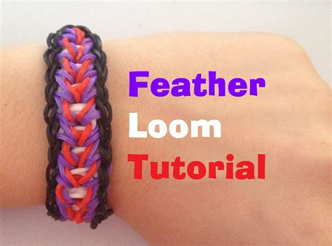 youtube tutorial loom bands feather loom bracelet tutorial rainbow loom l