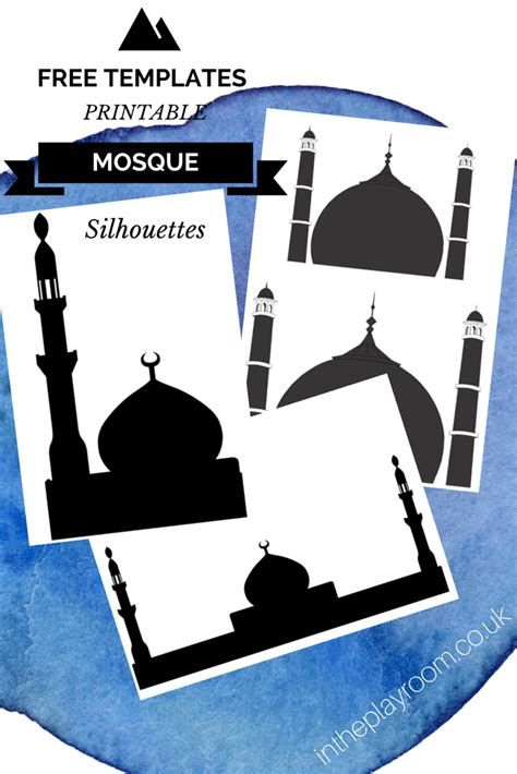 Pic Template by Cutting Sticking Mosque Pictures With Free Printable