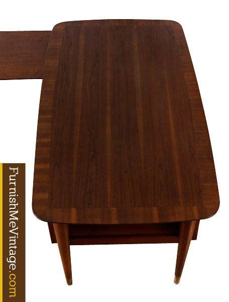 mid century modern desk l mid century modern l shaped executive desk