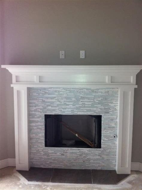 glass mosaic fireplace interior design