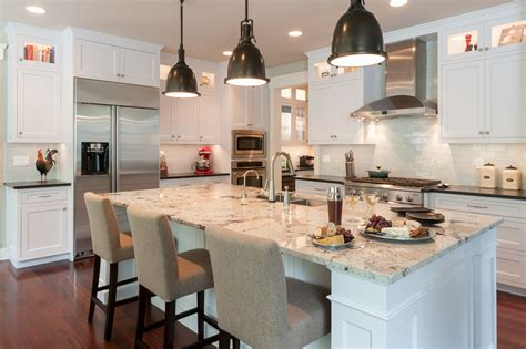 get ready for fall entertaining with kitchen island lights industrial flair on a bothell white kitchen mcadams