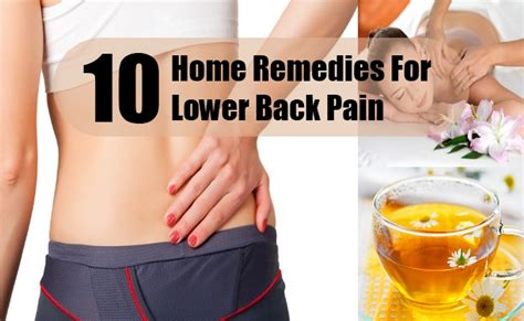 lower back home remedies treatments cures
