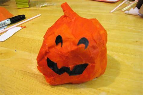 How To Make A Paper Mache Pumpkin - activities for children a paper mache pumpkin