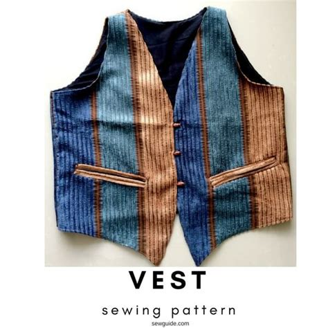 sewing pattern simple vest make a simple vest free pattern sew guide